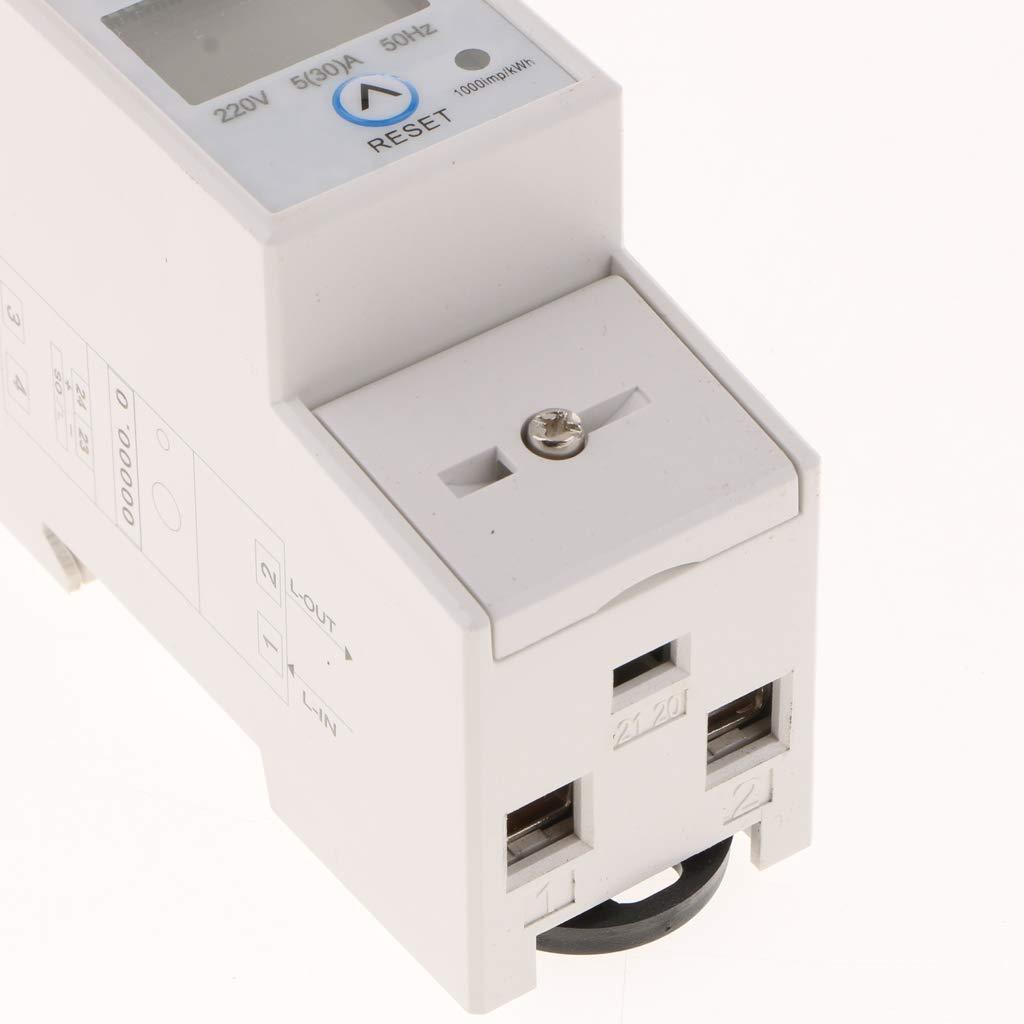 80 x 65 x 35 mm B Blesiya Medidor 220v 20 80 Monof/ásico Kwh Vatio Hora Din-rail Energ/ía Componentes Electr/ónicos Ensayo El/éctrico
