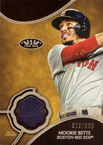 2019 Topps Tier One Relics #T1R-MB Mookie Betts Game Worn Red Sox Jersey Baseball Card - Only 399 made!