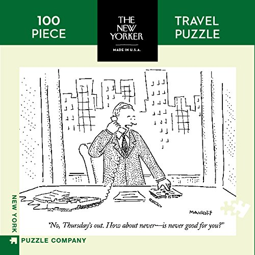 [New York Puzzle Company - New Yorker How About Thursday Mini - 100 Piece Jigsaw Puzzle] (Cartoon Jigsaw Puzzles)