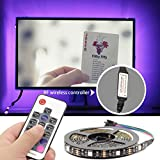TV Lights Colorful Backlight Strip,USB LED Strip Lights, Flexible Neon LED Light strip 6.5ft/2M,RGB Multi Color Lighting for 40