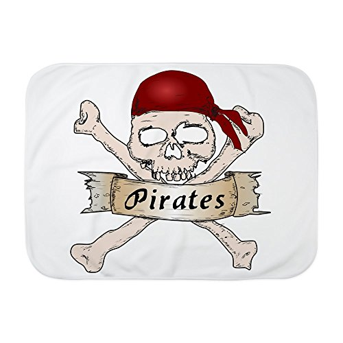 Truly Teague Baby Blanket White Simply Pirates Skull & Crossbones by Truly Teague