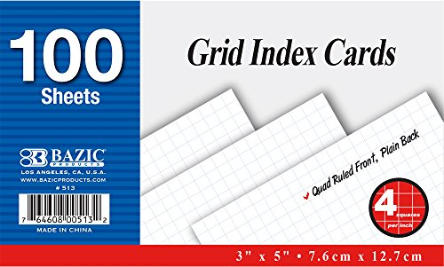 BAZIC 100 Ct. White Index Cards. 3