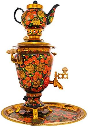 Samovar electric 3 liters Bank in the set Strawberries on the Green hand-painting