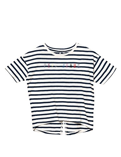 Pepe Jeans Janis Jr Girl's White T-Shrt in Size 10 Years White by Pepe Jeans