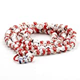 108 Vintage Style Porcelain Beads Tibetan Buddhist Prayer Japa Mala Necklace