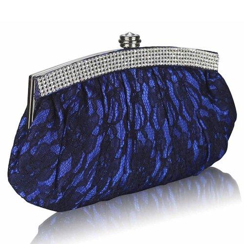 Bride Boutique Wedding Prom Party Vintage Style Floral Lace U0026 Diamante Clutch Bag Handbag Purse ...