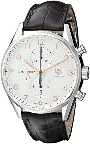 TAG-Heuer-Mens-CAR2012FC6236-Carrera-Analog-Display-Swiss-Automatic-Brown-Watch