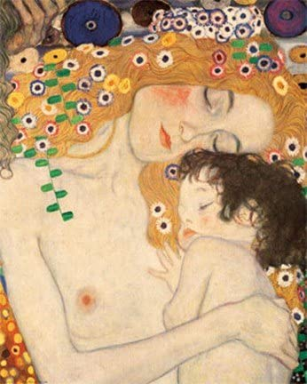 Amazon Com Mother And Child Detail From The Three Ages Of Woman C 1905 Art Poster Print By Gustav Klimt Overall Size 11x14 Image Size 8x10 Posters Prints