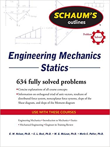 amazon schaum s outline of engineering mechanics statics