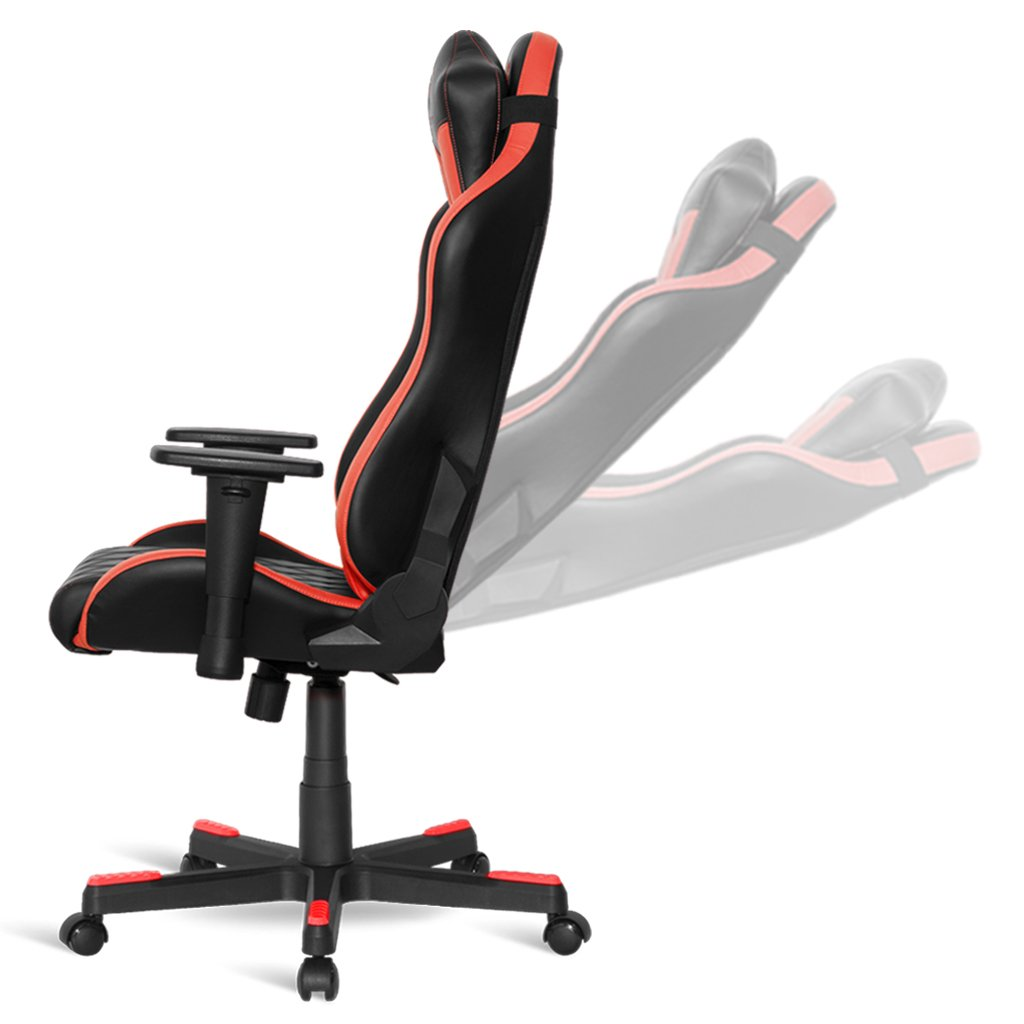 Hauteur En Noir Réglable Gaming Chaise Gamer Réglables Ergonomique Et Inclinable Confortable Accoudoirs Rouge – Empire 3d Mamba N8n0wmyvO