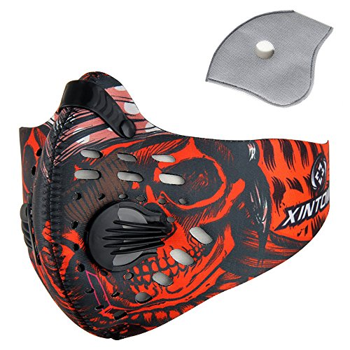 Pioneeryao Sport Dust Mask Cycling Running Outdoor Face Mask Starter Training Mask for Men and Women (Red)