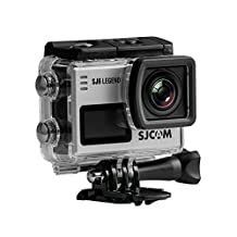 Official SJCAM® SJ6 Legend WiFi Action Camera (Silver), 2K 1080P, 30M Waterproof, Touchscreen, Metal Body, Gyro Stabilization, Time Lapse & Slow Motion, Car Dashcam FPV