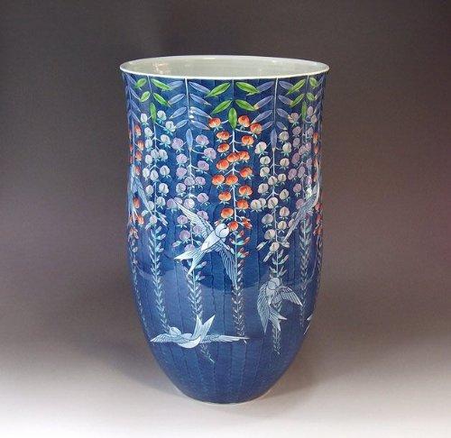有田焼伊万里焼|花瓶陶器花器壺|贈答品|高級ギフト|記念品|贈り物|色鍋島藤井錦彩 B00HQ8W9XA
