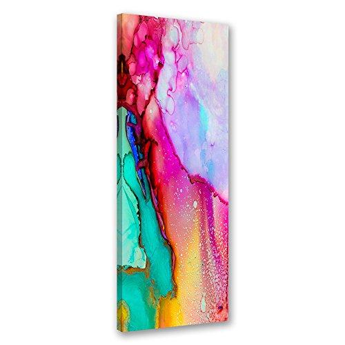 Feeby Cuadro en lienzo - 1 Parte - 40x100 cm, Imagen impresion Pintura decoracion Cuadros de una pieza, ABSTRACTO, MODERNO, ROSADO