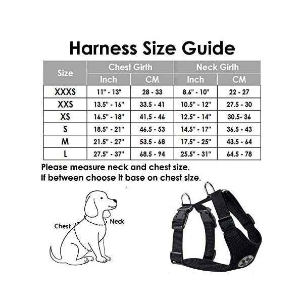 SlowTon Dog Car Harness Seatbelt Set, Pet Vest Harness with Safety Seat Belt for Trip and Daily Use Adjustable Elastic Strap and Multifunction Breathable Fabric Vest in Vehicle for Dogs 6