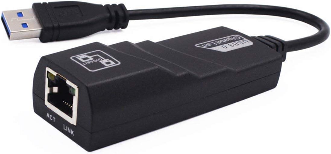 Detectorcatty USB 3.0 Gigabit LAN USB 3.0 to RJ45 Gigabit Ethernet Adapter 10//100//1000Mbps Computer to Router Network Adapter
