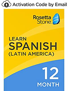 Rosetta Stone: Learn Spanish (Latin America) for 12 months on iOS, Android, PC, and Mac [Activation Code by Email] (B07D71J87J) | Amazon price tracker / tracking, Amazon price history charts, Amazon price watches, Amazon price drop alerts