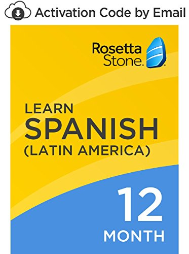 Software : Rosetta Stone: Learn Spanish (Latin America) for 12 months on iOS, Android, PC, and Mac- mobile & online access [PC/Mac Online Code]
