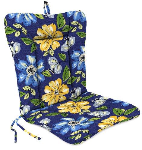 Jordan Manufacturing Wrought Iron Dinalounge Chair Cushion in Janice Royal
