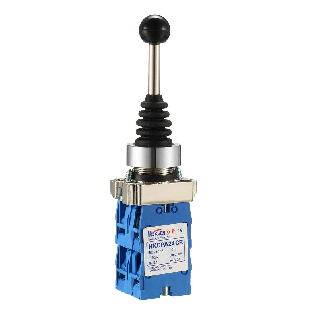 uxcell Joystick Switch Monolever Controllers 4 Position 4NO Latching Type 150V//250V//600V 22mm Panel Mount