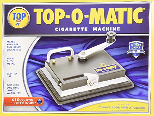 Cigarette Rolling Tubes - New Top-O-Matic Cigarette Rolling Machine