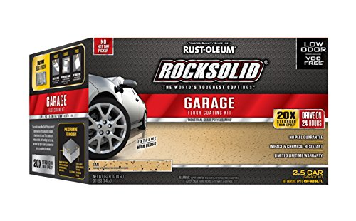 Rust-Oleum 293515 RockSolid Polycuramine 2.5 Car Garage Floor Kit, -