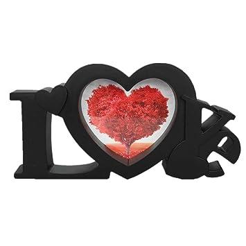 Amazoncom All Smiles Black Heart Picture Frame Love Romantic