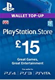 PlayStation PSN Card 15 GBP Wallet Top Up [PSN Download Code - UK account]