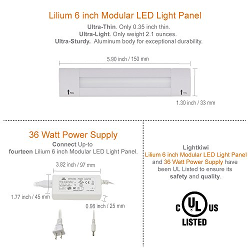 Lightkiwi F4920 Lilium 6 Inch Warm White Modular LED Under Cabinet ...