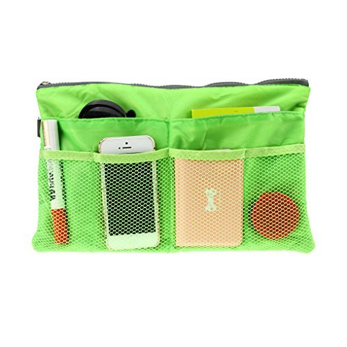FakeFace Multi-funtional Nylon Zipper Travel Handbag Pouch/Bag in Bag/Insert Organizer/Cosmetic Toiletry Bag Pocket/Makeup...