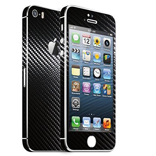 IPHONE 5S SCHWARZ CARBON FOLIE SKIN ZUM AUFKLEBEN bumper case cover schutzhülle i phone