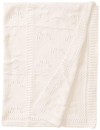 Widgeon Baby-Girls' Newborn Cotton Baby Blanket, White Bears, One Size