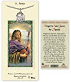 Pewter Saint James the Greater Medal with Laminated Holy Prayer Card