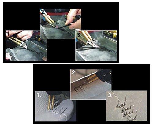 LILAUTO Hot agrafeuse Kit bo/îtier en plastique clair de rechange de r/éparation outils de soudage agrafeuses Clip Fix Dent