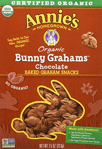 - Annie's Bunny Grahams, Chocolate, Graham Snacks, 7.5 oz Box (Pack of 12