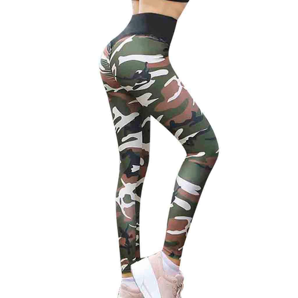 Sonderangebot beste Schuhe Finden Sie den niedrigsten Preis TEELONG Hosen Damen Yoga-Gymnastik-Camouflage-Druck-Sport ...