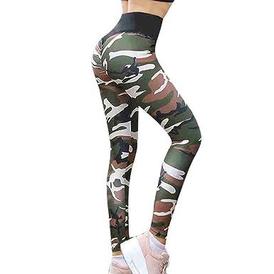 af614a1790b0c Fanteecy Women Sexy Ruched High Waist Butt Lift Camouflage Yoga Leggings  Workout Sport Pants Hip Push