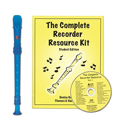 Harmony Traditional H147B Soprano Recorder Blue Translucent with Complete Recorder Resource Kit ()
