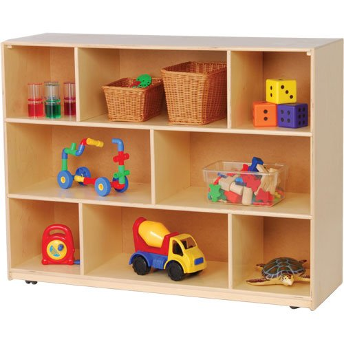 Constructive Playthings KWC-30 Birch Wood Deep Mobile Storage Unit - 36