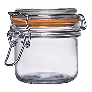 Medallion TOP QUALITY Smell Proof Airtight Glass Tobacco Herb Coffee Container Jar