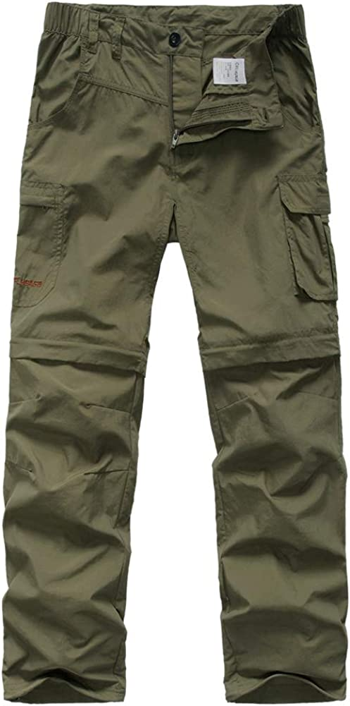Ourcan Men/'s Convertible Quick-Dry Pants Lightweight for Fishing Hiking Pants for Men Convertible
