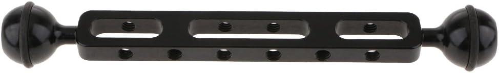 Sharplace Bras dExtension Double Balle en Alliage dAluminium pour Cam/éra Plong/ée sous-Marine Noire