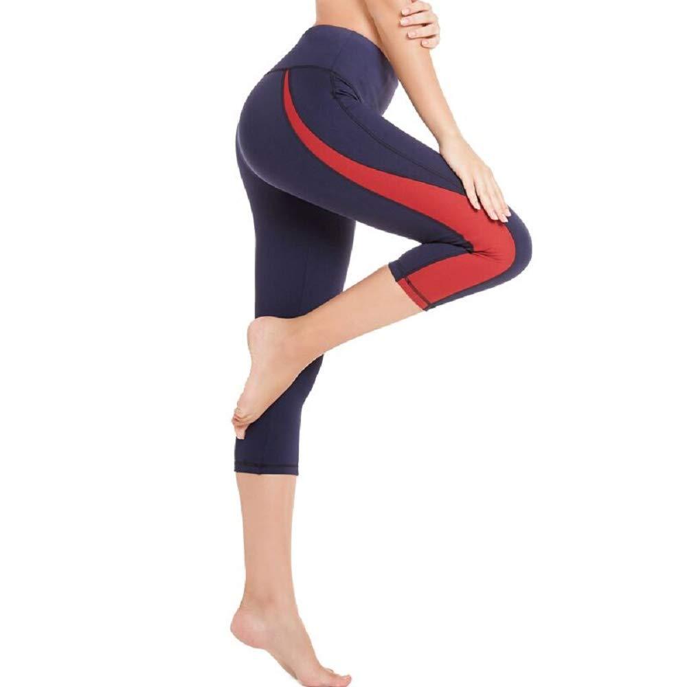 2a3002392cdade Hosen SEYO Sport Leggings Damen Yogahose Leggins Hoher Bund Sporthose  Blickdicht Leggings 3/4 und Lang Tasche Fitnesshose Lang
