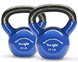 Yes4All Combo Vinyl Coated Kettlebell Weight Sets – Great for Full Body Workout and Strength Training – Vinyl Kettlebells 20 25 lbs Review