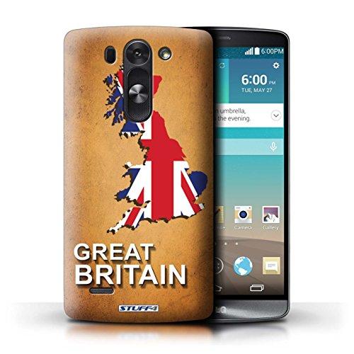 Kobalt® Imprimé Etui / Coque pour LG G3 S (Mini)/D722 / grande-Bretagne conception / Série Drapeau Pays