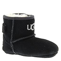 UGG Kids Unisex Jesse (Infant/Toddler) Black (Suede) Boot SM (US 2-3 Infant) M