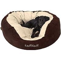 Knuffelwuff panier chien, lit pour chien, coussin, corbeille pour chien Dooly, douillet, marron-beige L 80 x 75cm