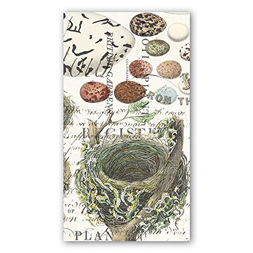 Michel Design Works 15 Count 3-Ply Paper Hostess Napkins, Nest & Eggs
