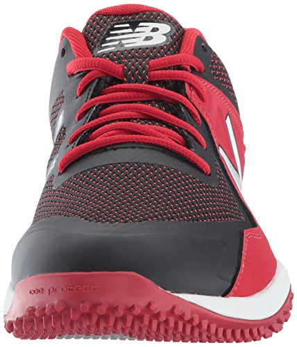 New Balance Men's T4040v4 Turf Baseball Shoe Black/Red free shipping from china recommend huge surprise cheap price HHROHg7J1M