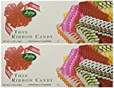 Sevigny's Thin Ribbon Candy - Made in USA. 7 Oz. Box, (2 Pack)